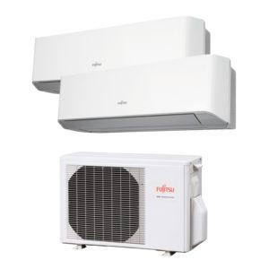 Aire acondicionado Multisplit 2x1 Inverter Fujitsu AOY40 UI-KB + ASY25MI-KM + ASY25MI-KM (R32 A+++) (MODELO 2020)