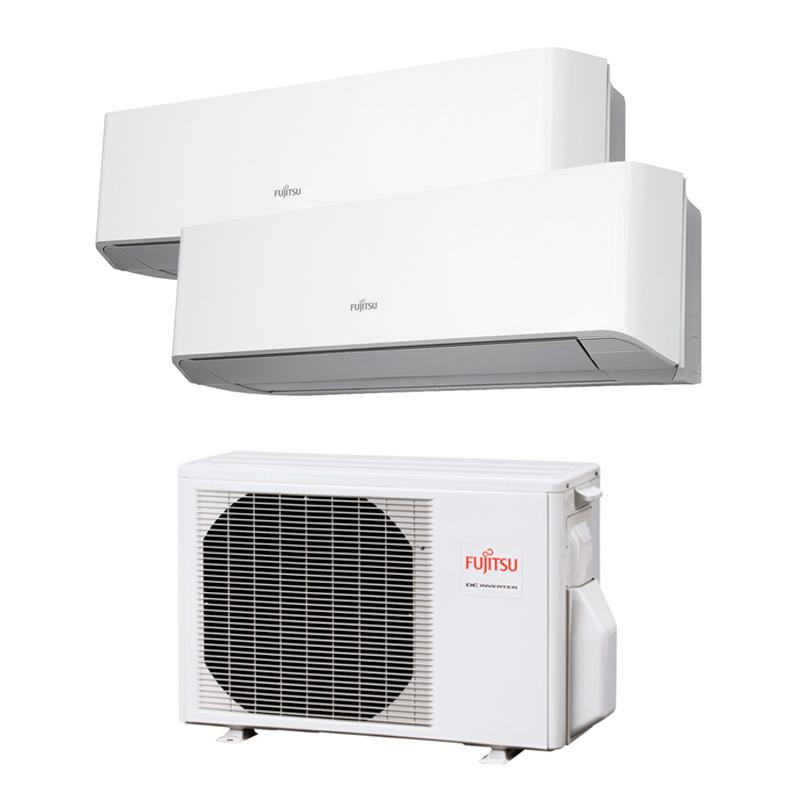 Aire acondicionado Multisplit 2x1 Inverter Fujitsu AOY40 UI-KB + ASY20MI-KM + ASY20MI-KM (R32 A+++) (MODELO 2020)